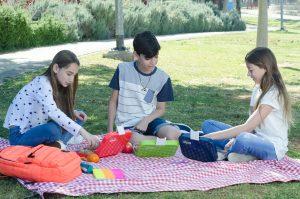ילדים בפיקניק עם קופסת Yoopi